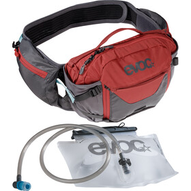 EVOC Hip Pack Pro 3 l + Drinkblaas 1,5 l, carbon grey/chili red